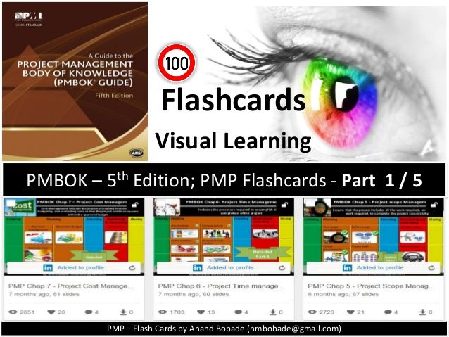 PMBOK-5th ed: PMP- Flashcards Part1/5