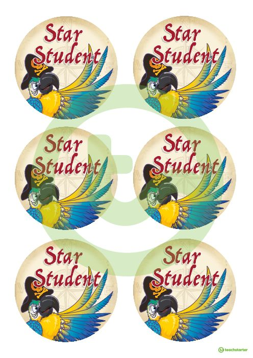 Pirates – Star Student Badges Teaching Resource