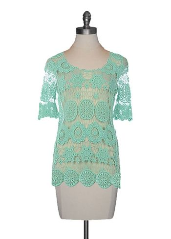 Mint Crochet Tunic