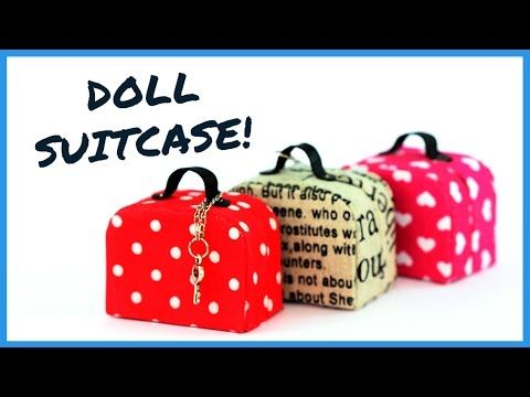 DIY Miniature Doll Suitcase | How to Make Doll Suitcase | Dollhouse DIY - YouTube