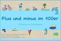 Mathe in der Grundschule: Kartei plus und minus im 100er