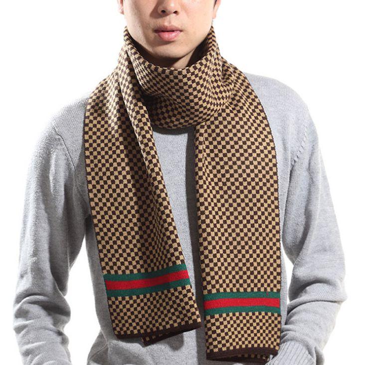 Купить товар2015 мода дизайнер мужчины классический тартан шарф мягкая полосатые шарфы зимняя хлопка плед 0705A3 в категории Шарфына AliExpress.