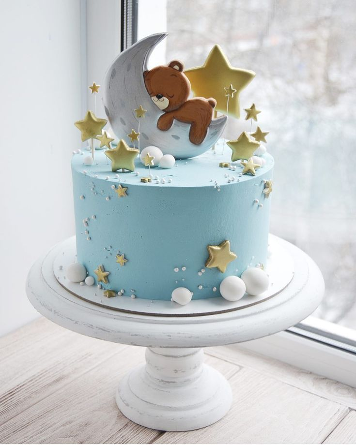 Moon And Stars Cake Kids Cake In 2019 Baby Birthday