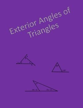 Spanish Verb Conjugation Worksheet Top  Best Geometry Worksheets Ideas On Pinterest  D Shape  Differentiated Instruction Worksheets Word with Worksheet Sequences Geometry Worksheet Exterior Angles Of Triangles N Worksheets Word
