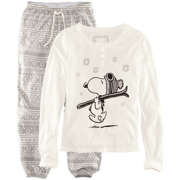 Image result for snoopy long sleeve warm pjs