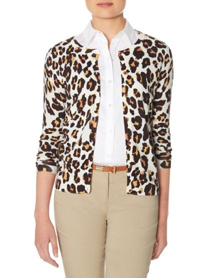 Leopard Print Cardigan from THELIMITED.com
