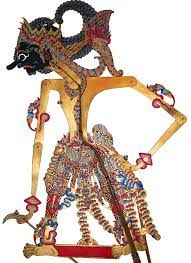 Bima one of the Pandhawa brothers and a major character in the Mahabarata, Wayang Kulit, Made of Leather, Java