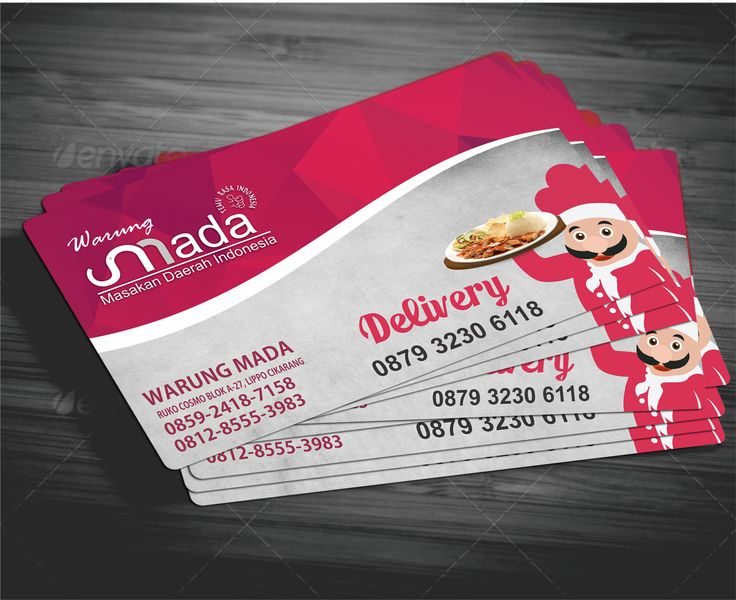 card for mada restaurant