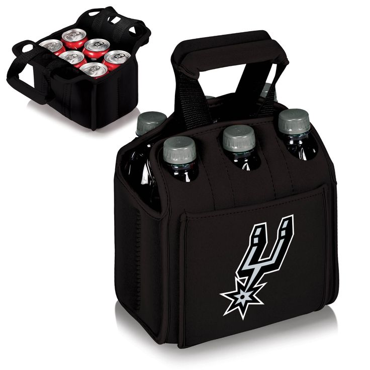The San Antonio Spurs Six Pack Cooler keeps a 6-pack cold and easy to carry