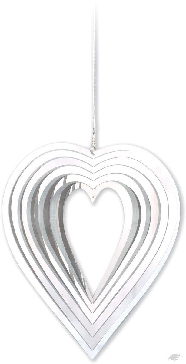 Stainless Steel Heart Garden Spinner Spirit of Air | Trade Me