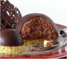 Mousse au chocolat en coque sur biscuit aux amandes - Le blog de Patrick Plus