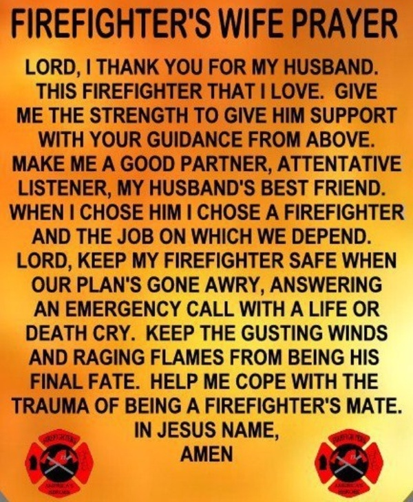 Firefighter / paramedic wife. Because I will be a firefighters wife VERY soon