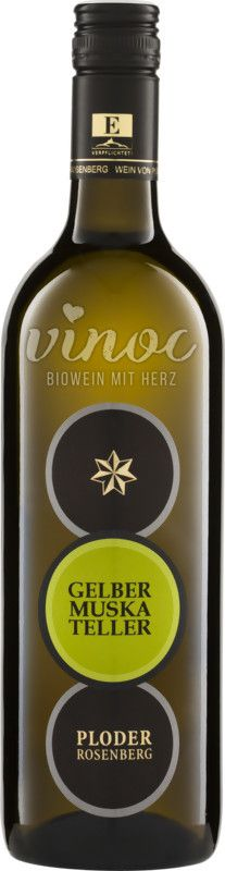 Gelber Muskateller Qualitätswein 2013/2014 Ploder-Rosenberg  Würzige Kräuternoten, Melisse und Minze im Abgang, dazu auch fruchtbetont mit zugänglicher Frische