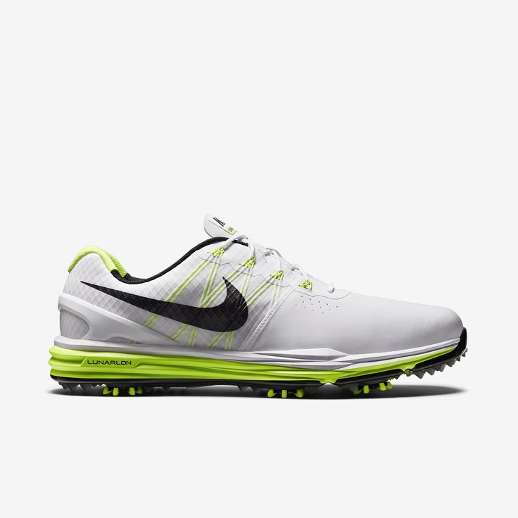 Buy Nike Lunar Control 3 Mens Golf Shoe - White/Volt/Black Authentic from  Reliable Nike Lunar Control 3 Mens Golf Shoe - White/Volt/Black Authentic  ...