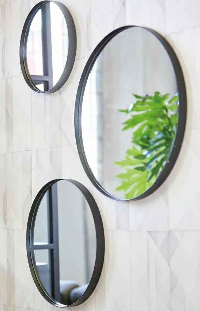 Uitgelezene spiegel Juma, rond, zwart (met afbeeldingen) | Spiegel badkamer PP-07