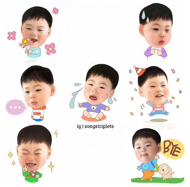 Song triplet icons are now available on KakaoTalk! ❤️
