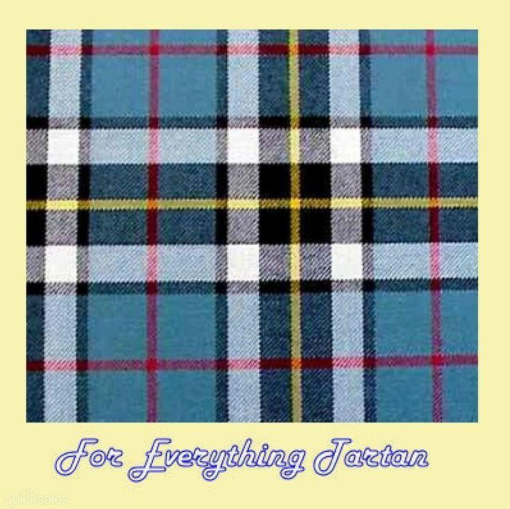 Thomson Dress Blue Tartan Polywool Plaid Fabric Double Width by JMB7339 - $80.00