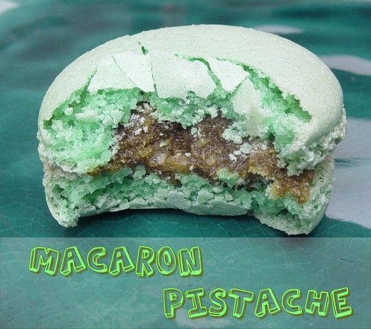 macaron pistache et pate de pistache au cookin