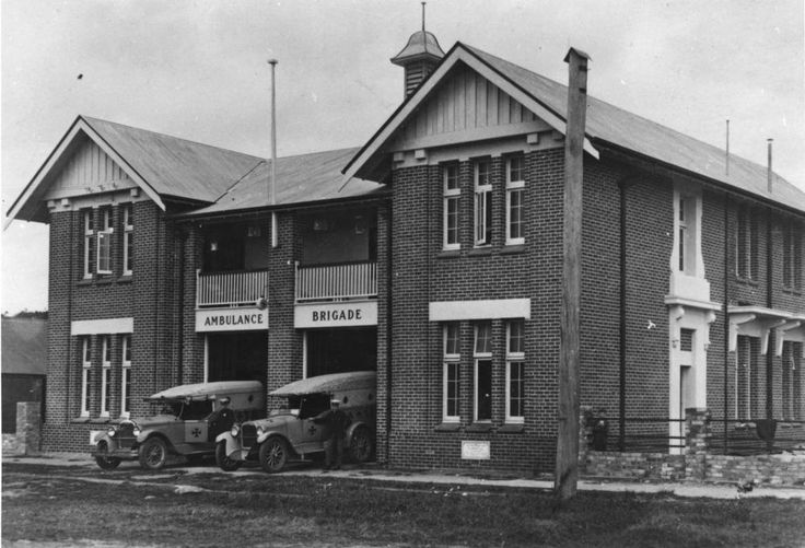 Cairns' Ambulance Station on Grafton Street, Cairns, Queensland, ca. 1928 - Q.A.T.B. Buildings.