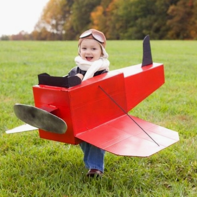 "OMG, I think K would be in heaven ""flying"" a plane for Halloween!"