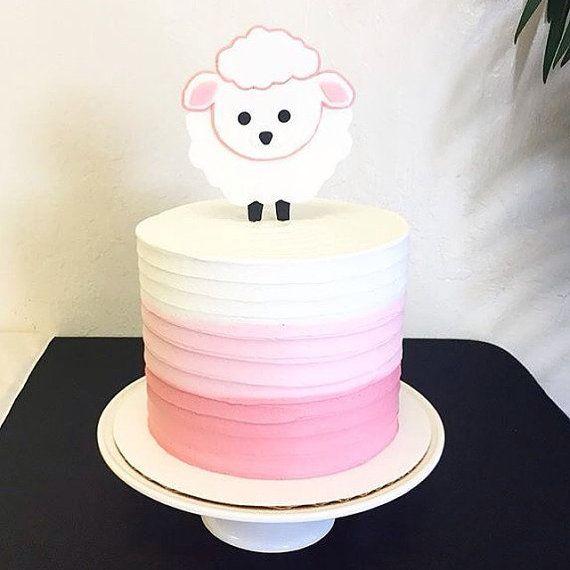 Fondant Lamb cake topper by CuteFondant on Etsy