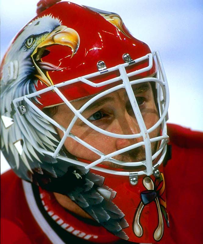 Ed Belfour - Chicago Blackhawks (1989-97) - Top 10 NHL Goalie Masks of the '90s - Photos - SI.com