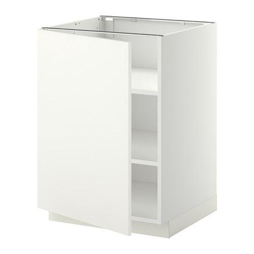 IKEA - METOD, Unterschrank mit Böden, Häggeby weiß, weiß, 60x60 cm, , Mit versetzbaren Böden; der Abstand dazwischen kann dem Bedarf angepasst werden.Die Tür kann wahlweise mit der Öffnung nach rechts oder links montiert werden.Das Grundelement ist stabil konstruiert: 18 mm stark.Dank der Schnappscharniere lassen sich die Türen einfach ohne Schrauben montieren und zum Reinigen leicht abnehmen. 44