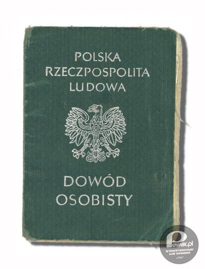 Identity document of the Communist era Poland