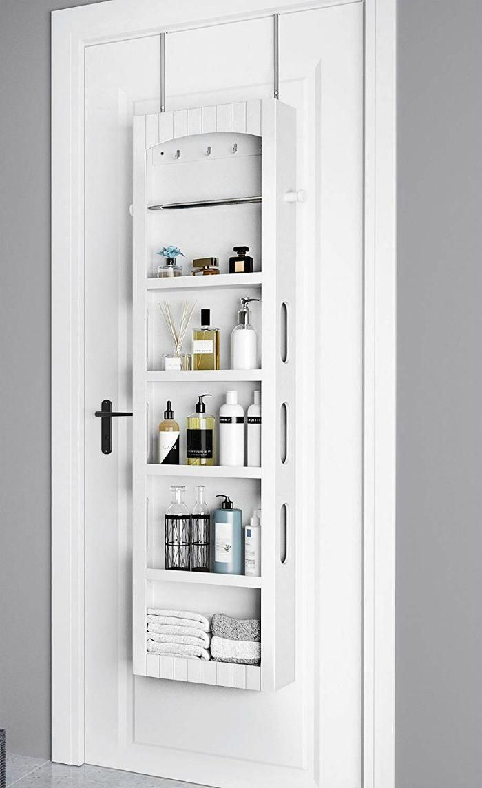 14 Brilliant Storage Ideas For Small Spaces Living In A Shoebox Small Bathroom Storage Small Space Bathroom Diy Bathroom Storage