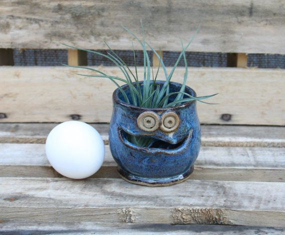 Hey, I found this really awesome Etsy listing at https://www.etsy.com/listing/203719748/stoneware-egg-separator-air-plant-pot