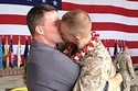 Marine welcomed home by his boyfriend! This is awesome and adorable.