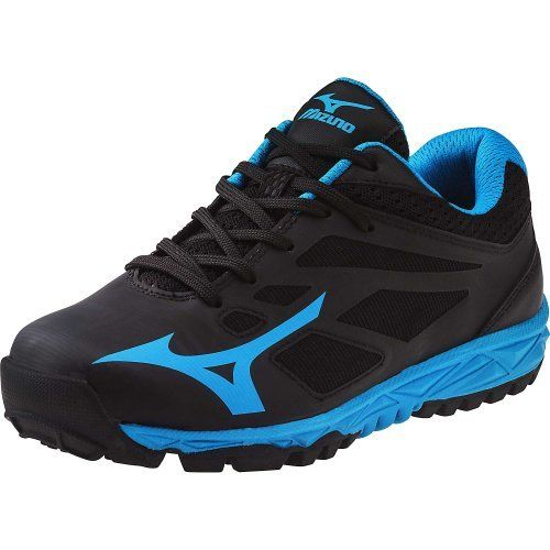 Mizuno Women's Speed Trainer 5 Turf Shoe,Black/Electric Blue,8 M US  #Blue8 #Mizuno #ShoeBlack/Electric #Speed #Trainer #Turf #Women's boisestategear.com