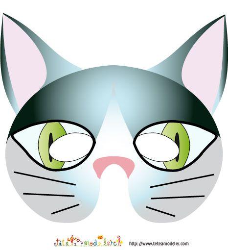 Les 83 meilleures images du tableau coloriage masque sur pinterest coloriage masque loisirs - Chat coloriage masque ...