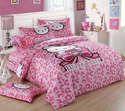 FADFAY Home Textile,Hello Kitty Queen Size Bedding Set,Hello Kitty Bedding,Hello Kitty Bedroom Set,Hello Kitty Gift For Girls Kids