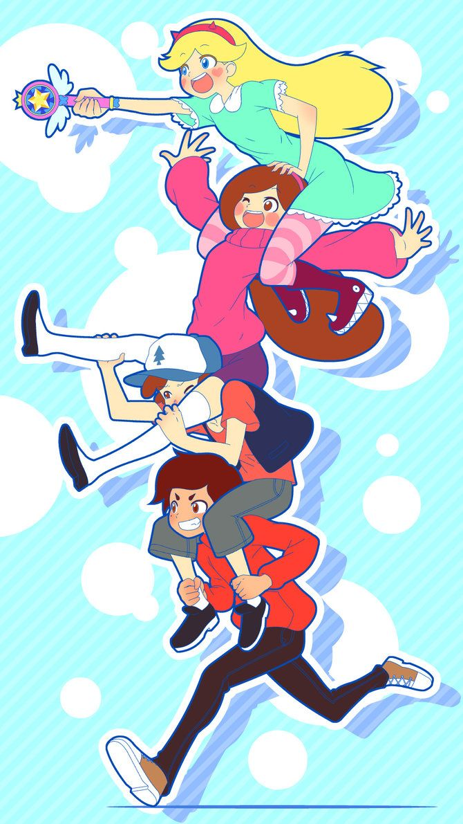 Watch the Timelapse HERE Fan art of Gravity Falls and Star vs the Forces of Evil.