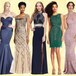 A blue prom dress you can return