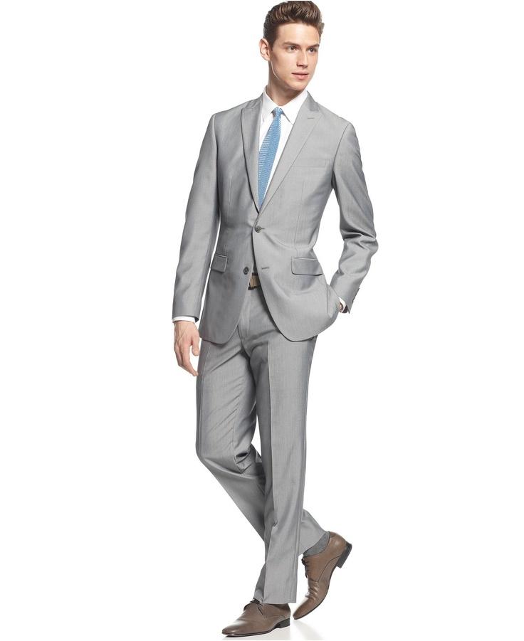 Bar III Suit Separates, Light Grey Texture Slim Fit - Suits & Suit Separates - Men - Macy's