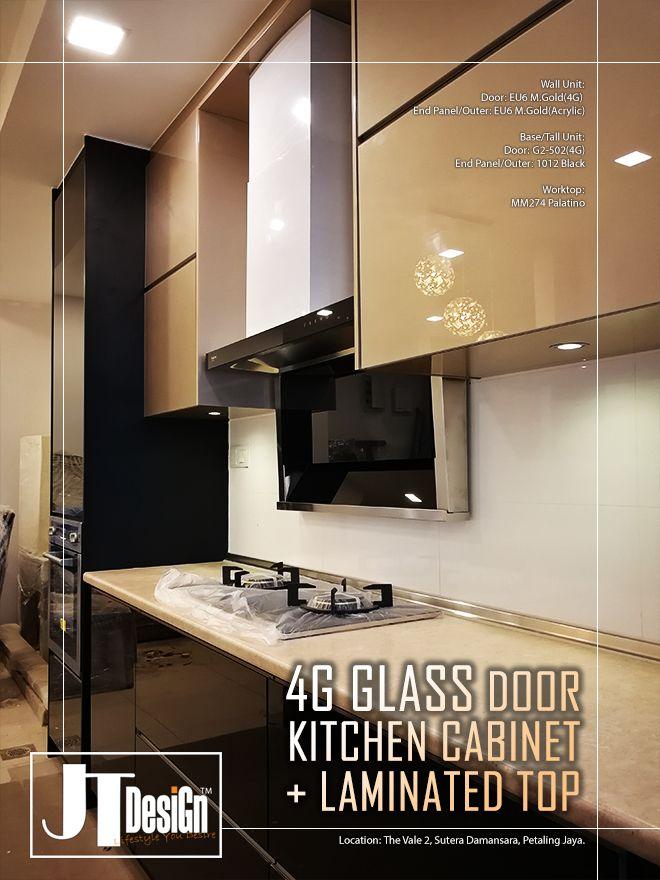 It S 4g Glass Door With Hpl Worktop Glass Kitchen Cabinet Doors