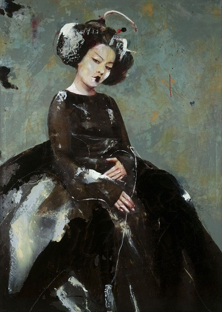 HIDDEN DREAMS, Lita Cabellut (b1961, born a gipsy girl in the streets of El Raval in Barcelona, Cabellut was adopted at the age of 13)...
