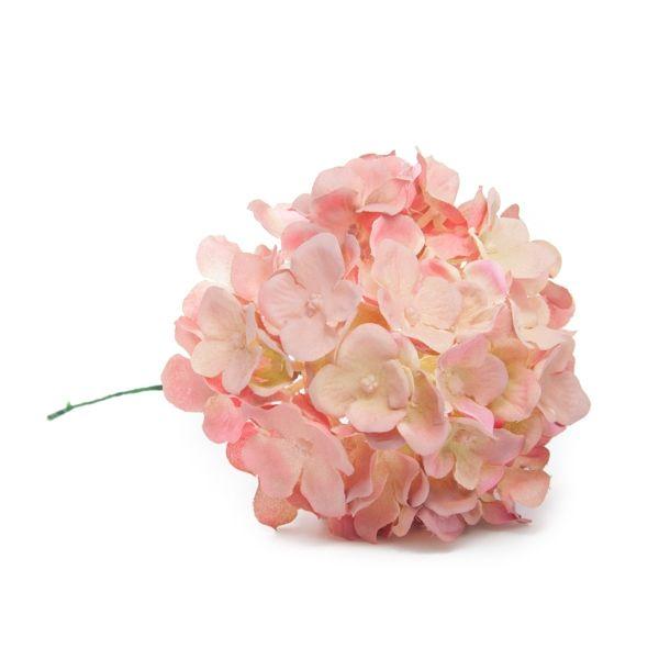 Hortensia de flamenca en color rosa palo empolvado y beige - Color rosa palo ...