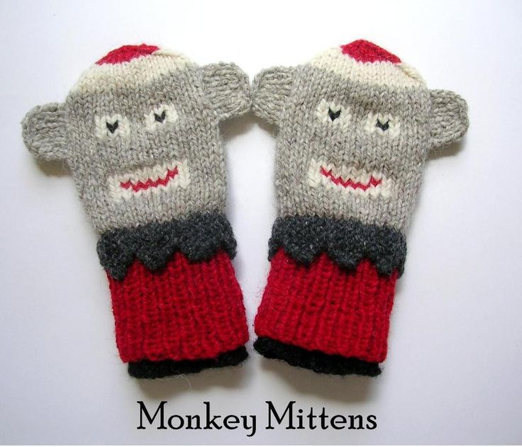 Free Crochet Pattern For Sock Monkey Mittens : 17 Best images about Knitting Toddler and Child on ...