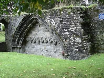 The ruins of Tavistock Abbey, Devon. Completed in 981, it was destroyed & rebuilt many times, until dissolved by Henry VIII.