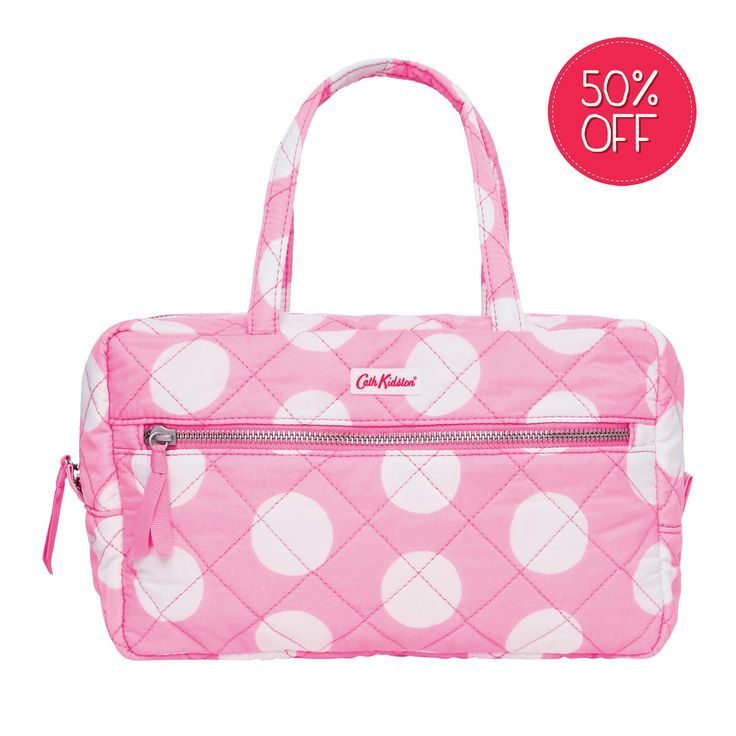 View All | Big Spot Quilted Large Cosmetic Bag | CathKidston
