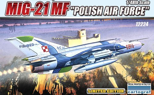 Mikoyan MiG-21MF, Polish Air Force. Academy, 1/48, injection, No.12224. Price: 18,89 GBP.