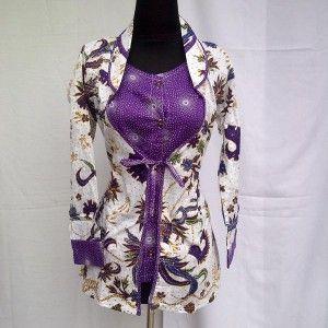 Blus Batik Wanita Modern Motif Kembang Warna Ungu Kode KM 55 Pesan kirim ke 082134923704 / Pin BB 2AEB8254