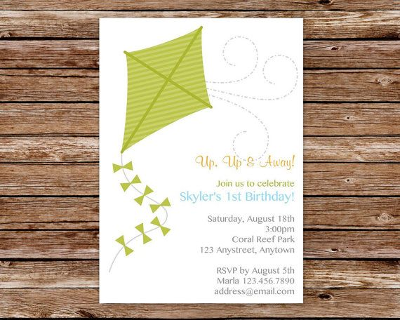 Printable Kite Birthday Party Invitation by thepaperblossomshop, $12.50
