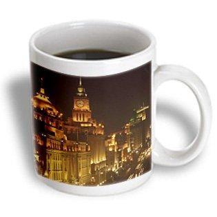 3dRose China, Shanghai, Oriental Pearl TV tower, city skyline-AS07 POX0427 - Pete Oxford, Ceramic Mug, 11-ounce