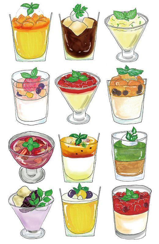Illustration : Glass Dessert