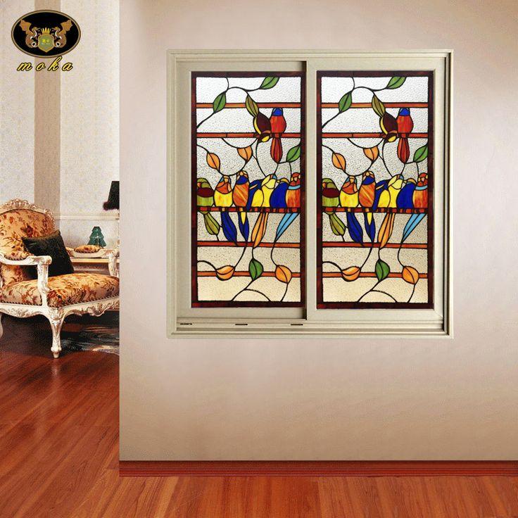 vchodové dveře Custom House posuvné posuvné dřevěná příčka Continental barevné umělecké sklo Tiffany kaple