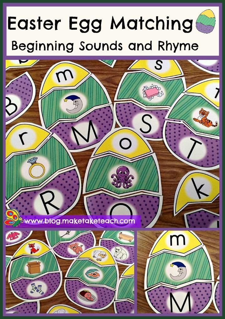 Fun Easter-themed activities for teaching beginning sounds and rhyme.